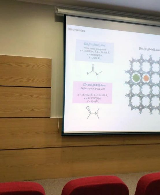 Investigadora de la Universidad de la Laguna expone sobre MOFs en Ciencias Químicas UdeC