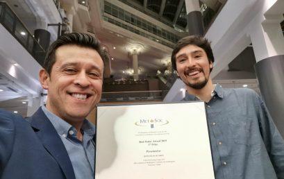 Investigadores de Ciencias Químicas obtienen primer lugar en poster durante congreso mundial del Cobre en Canadá
