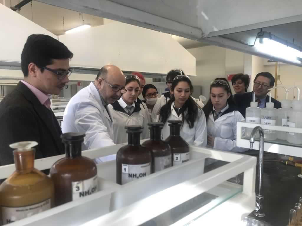 Alumnas de enseñanza media trabajan en laboratorios de Ciencias Químicas