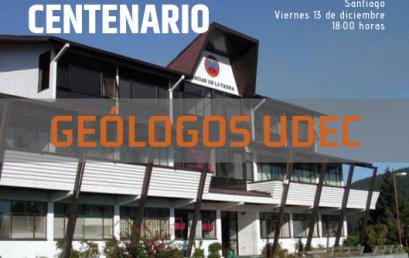 Carrera de Geología alista encuentro de titulados con motivo del Centenario UdeC