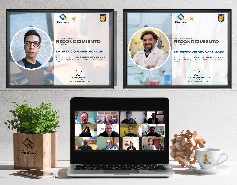 FCQ entrega los premios Docente Destacado e Investigador Joven Destacado 2019