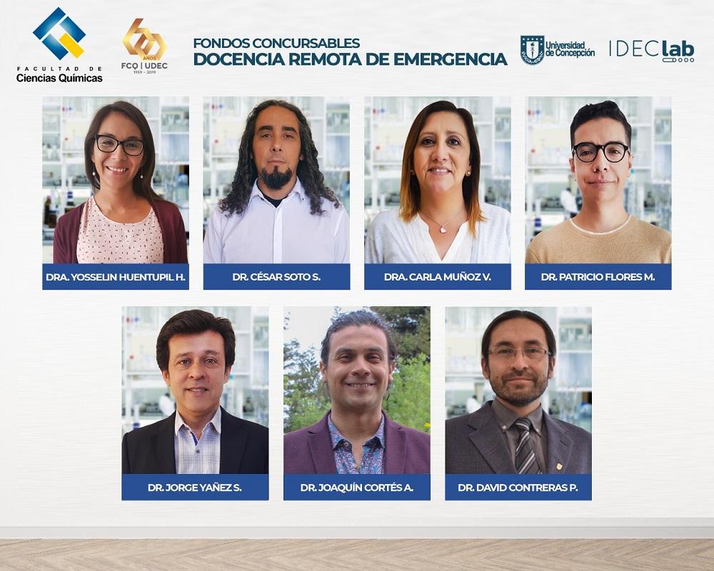 """Siete académicos de la Facultad de Ciencias Químicas se adjudican fondos del concurso """"Docencia Remota de Emergencia"""""""