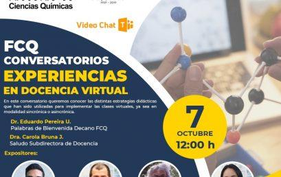 Facultad de Ciencias Químicas realizará conversatorios entre sus académicos para enriquecer la docencia virtual