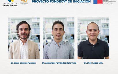 Tres académicos de la Facultad de Ciencias Químicas adjudicaron Fondecyt Iniciación
