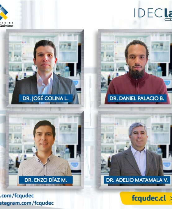 Cuatro académicos de la Facultad de Ciencias Químicas se adjudican fondos del concurso IDEClab 2021