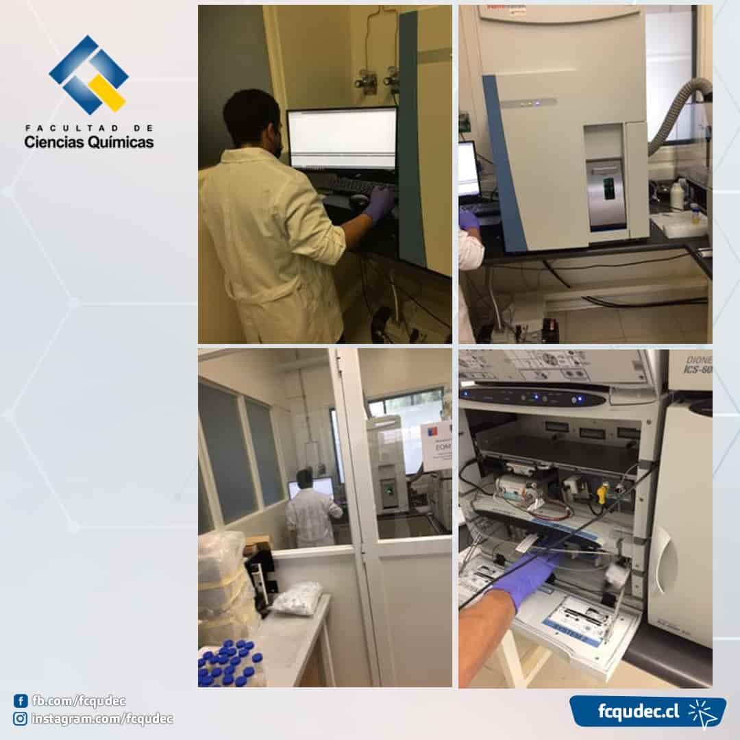Representante de ANID se reúne con profesionales de Ciencias Químicas para chequear equipo Fondequip adjudicado